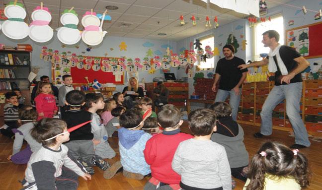 «Φον Κουραμπιές εναντίον  Κόμη Μελομακαρόνη» στον Β' Παιδικό Σταθμό