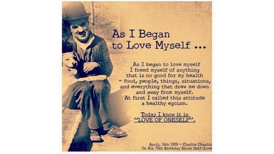 Όταν άρχισα να αγαπώ τον εαυτό μου πραγματικά!
