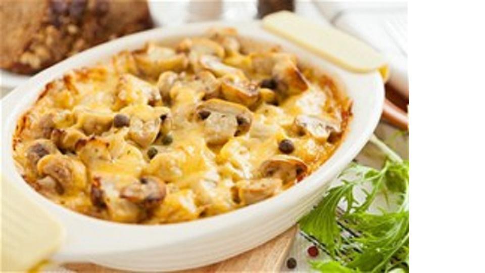 Σουφλέ με μανιτάρια, πατάτες και γιαούρτι