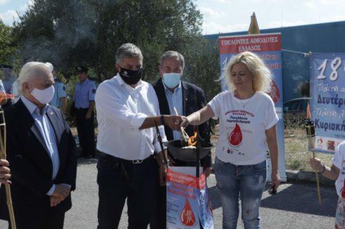 Στην τελετή λήξης της 18ης Πανελλήνιας Λαμπαδηδρομίας Εθελοντών Αιμοδοτών, ο Περιφερειάρχης Αττικής Γ. Πατούλης