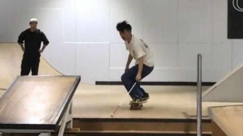 Ο τυφλός Ιάπωνας skater που έγινε viral με τα κόλπα του