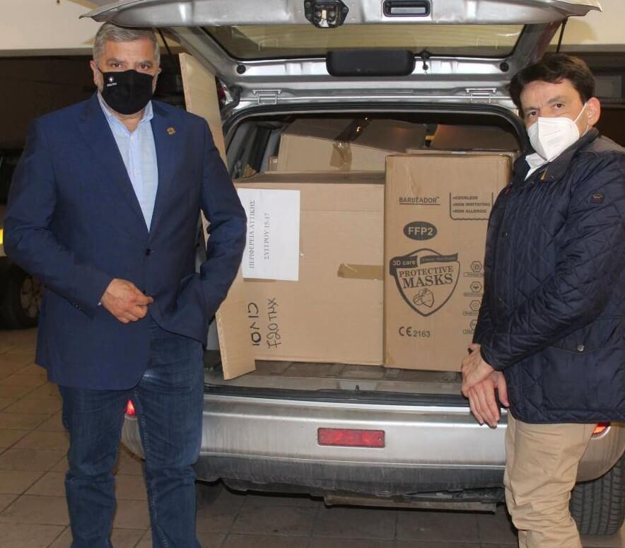 Περιφέρεια Αττικής : 5.000 μάσκες προστασίας στο Σύλλογο «Φλόγα»