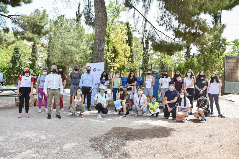 Κοινή δράση ανακύκλωσης του Δήμου Αθηναίων με 30 μαθητές από «Το Χαμόγελο του Παιδιού»