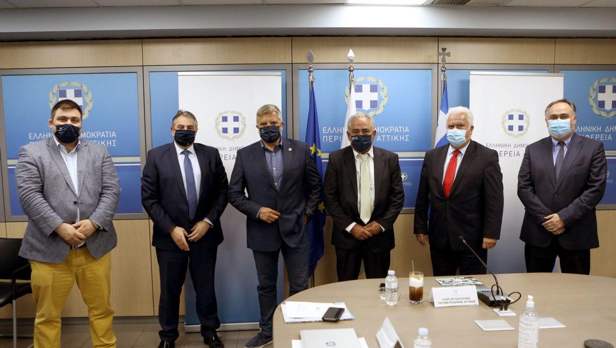 Συνάντηση του Περιφερειάρχη Αττικής με τους Προέδρους Επαγγελματικών Επιμελητηρίων Αθηνών και Πειραιά για τη Προγραμματική Περίοδο 2021-2027