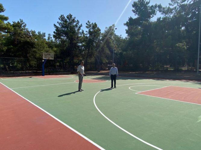 Αναβάθμιση ανοιχτού γηπέδου μπάσκετ Χολαργού «Χ. Χαντζόπουλος»