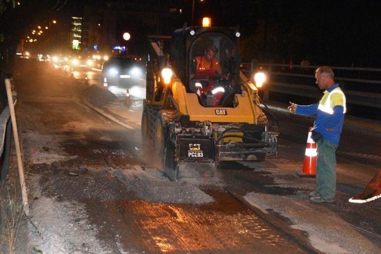 Συνεχίζονται οι εργασίες συντήρησης του οδοστρώματος στην Κηφισίας, από την Περιφέρεια Αττικής