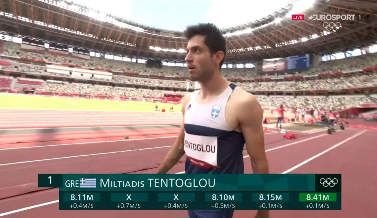 Χρυσός Ολυμπιονίκης ο Μίλτος Τεντόγλου στο μήκος